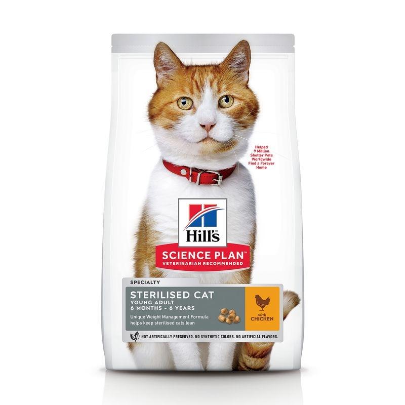Hills SP Feline Young Adult Sterilised Cat Chicken 15 kg imagine
