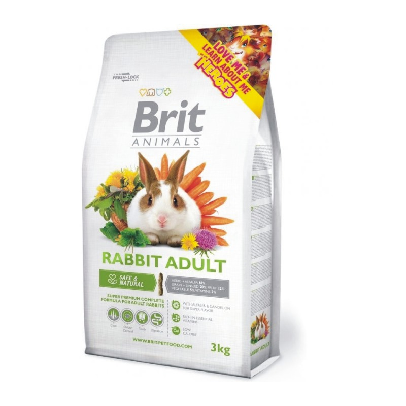 Brit Animals Iepure adult 3 kg imagine