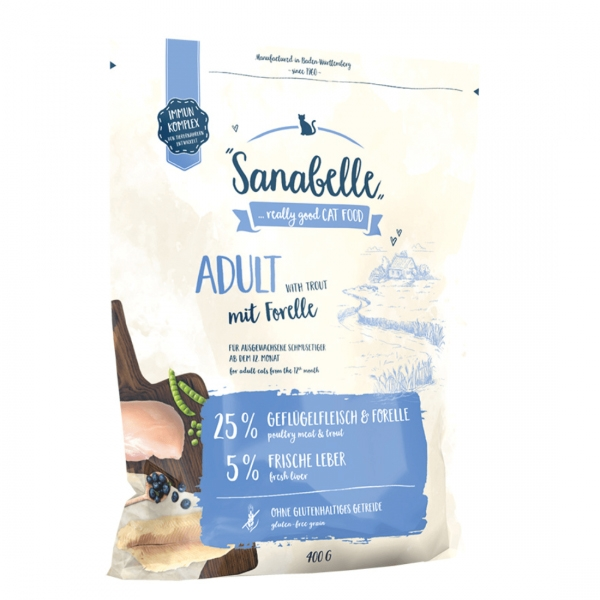 Hrana uscata pisici, Sanabelle Adult cu pastrav, 400 g imagine