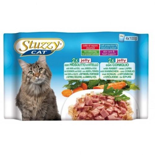 Hrana umeda pisici, Stuzzy sunca, vitel si iepure, 4 x 100 g imagine