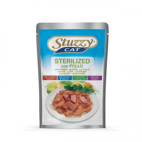 Hrana umeda pisici, Stuzzy Sterilised cu pui, 100 g imagine