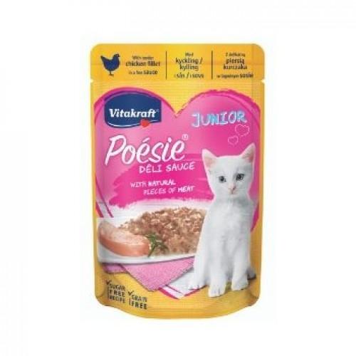 Hrana umeda pisici, Vitakraft Plic Poesie Junior, Pui in Sos, 85 g imagine