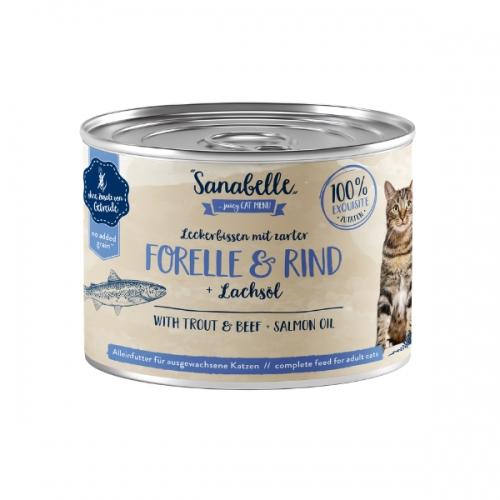 Hrana umeda pisici, Sanabelle, Pastrav si Vita, 195 g imagine