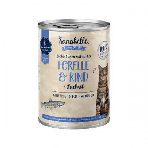 Hrana umeda pisici, Sanabelle, Pastrav si Vita, 400 g imagine