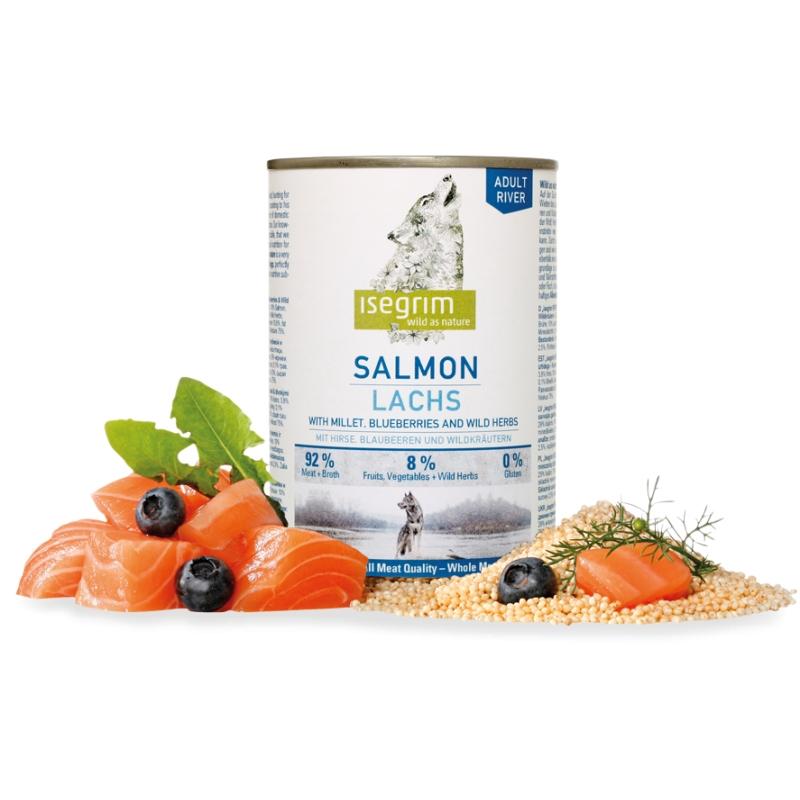 Hrana umeda, Isegrim Dog Adult Salmon, 400 g imagine