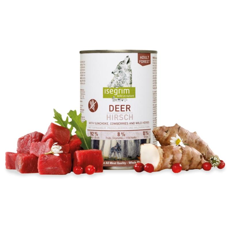 Hrana umeda, Isegrim Dog Adult Deer, 400 g imagine