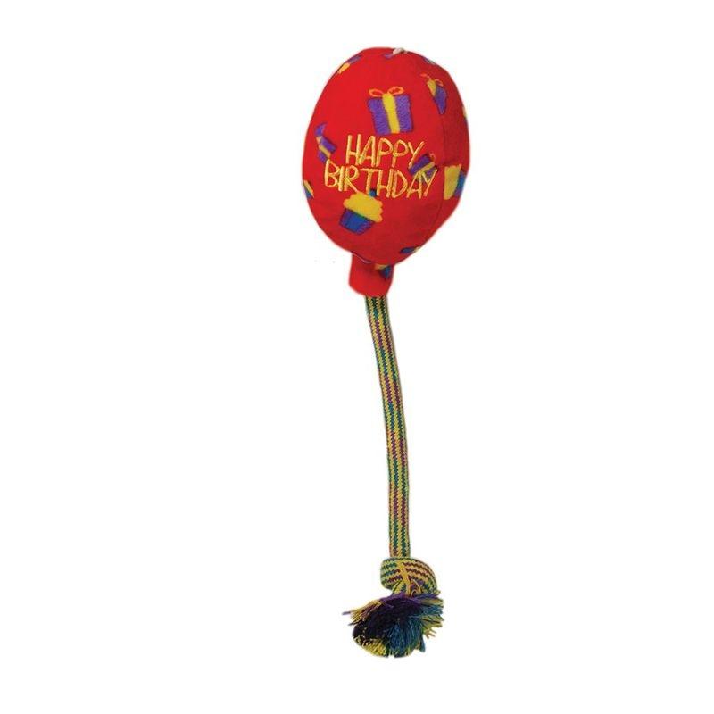 Jucarie caine Kong Balon Rosu Mediu imagine