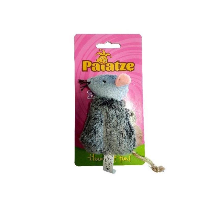 Jucarie Paiatze Cat Soarece Gri, 10 X 5 Cm