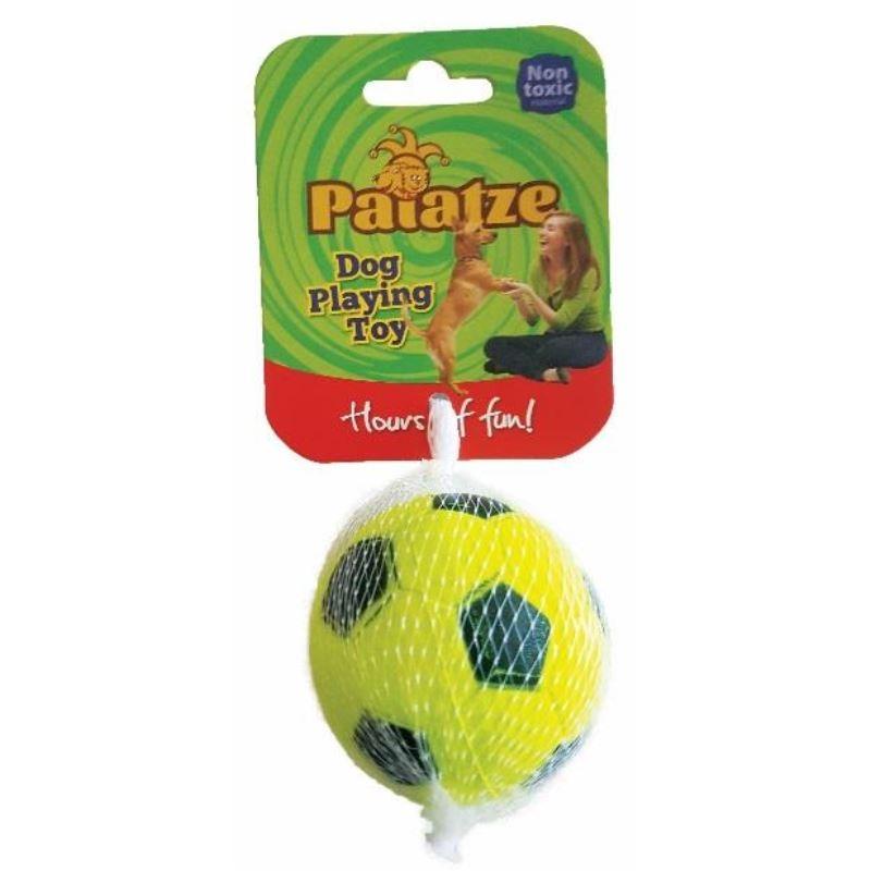 Jucarie Paiatze Dog Minge Neon cauciuc, galbena, 6.3 cm imagine