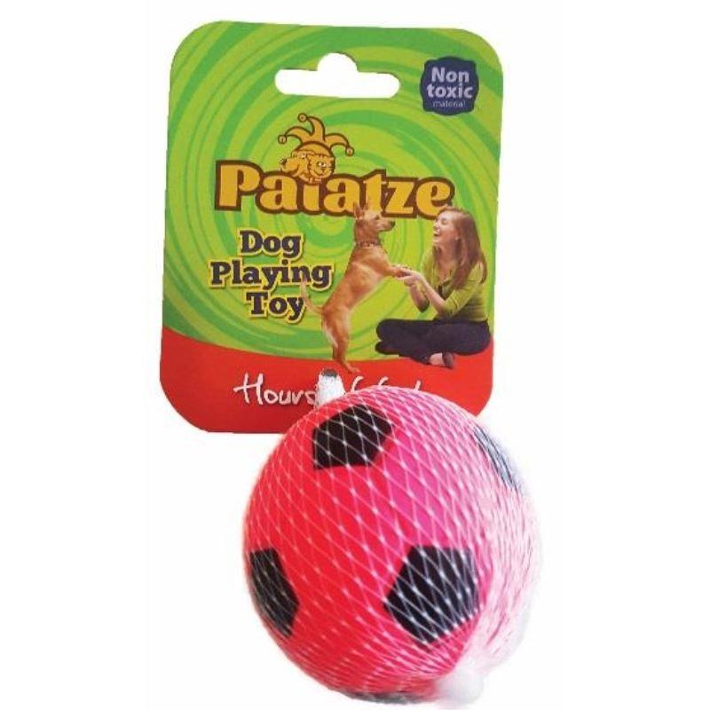 Jucarie Paiatze Dog Minge Neon cauciuc, roz, 6.3 cm imagine