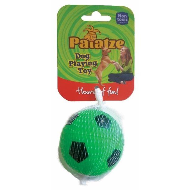 Jucarie Paiatze Dog Minge Neon cauciuc, verde, 6.3 cm imagine