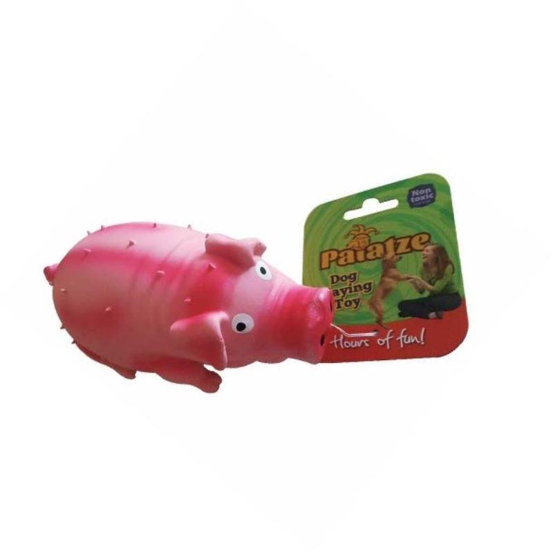 Jucarie Paiatze Dog Porcusor Latex, roz, 21 cm imagine