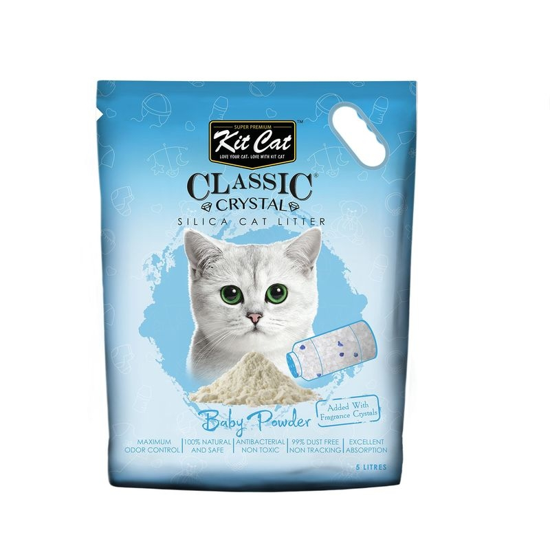 Kit Cat Classic Crystal Baby Powder, 5 l imagine