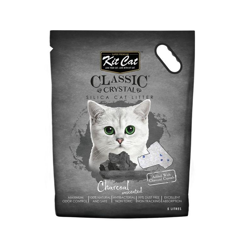 Kit Cat Classic Crystal Charcoal, 5 l imagine