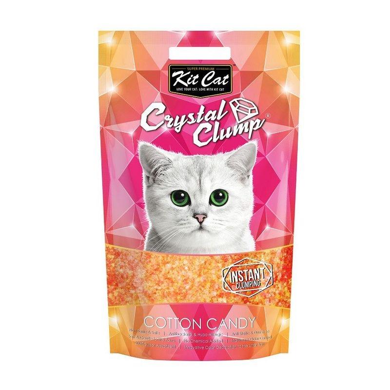 Kit Cat Crystal Clump Cotton Candy, 4 l imagine