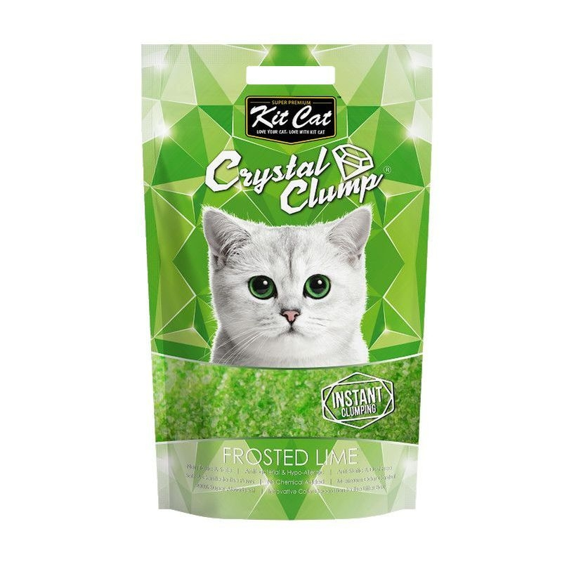 Kit Cat Crystal Clump Frosted Lyme, 4 l imagine