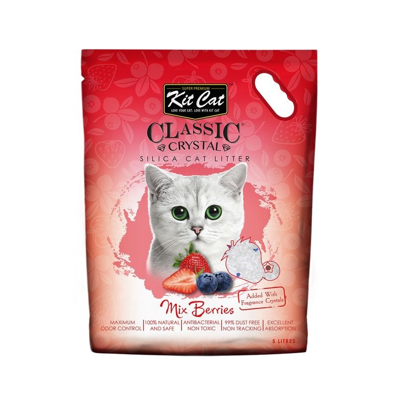 Kit Cat Classic Crystal Mix Berries, 5 l imagine