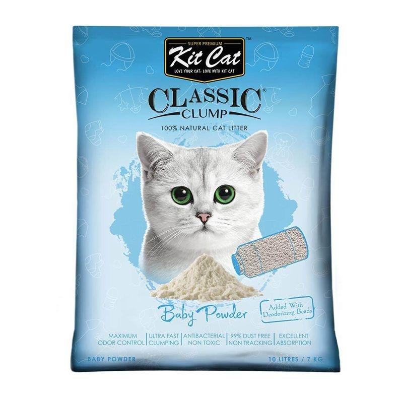 Kit Cat Classic Clump Baby Powder, 10 l imagine