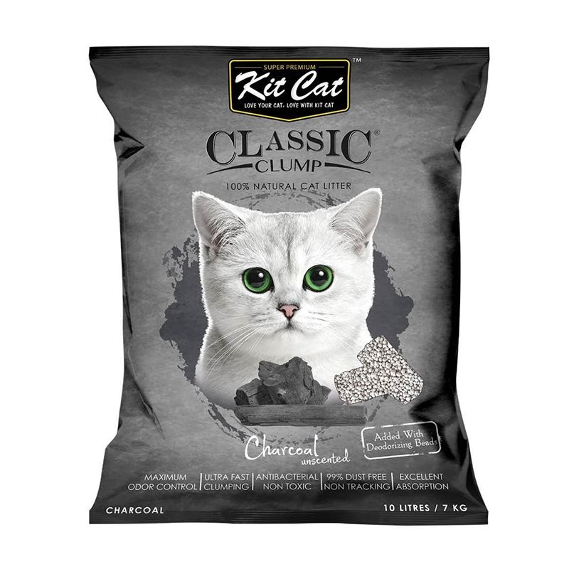 Kit Cat Classic Clump Charcoal, 10 l imagine