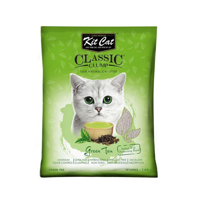 Kit Cat Classic Clump Green Tea, 10 l imagine