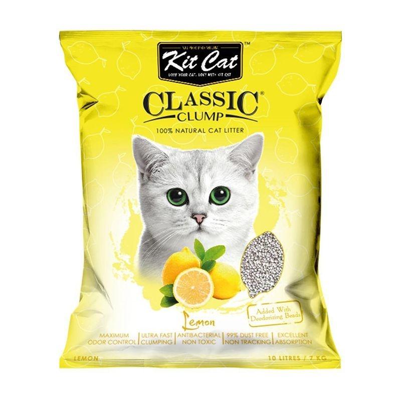 Kit Cat Classic Clump Lemon, 10 l imagine