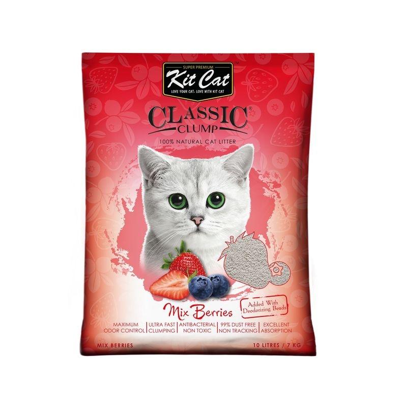 Kit Cat Classic Clump Mix Berry, 10 l imagine