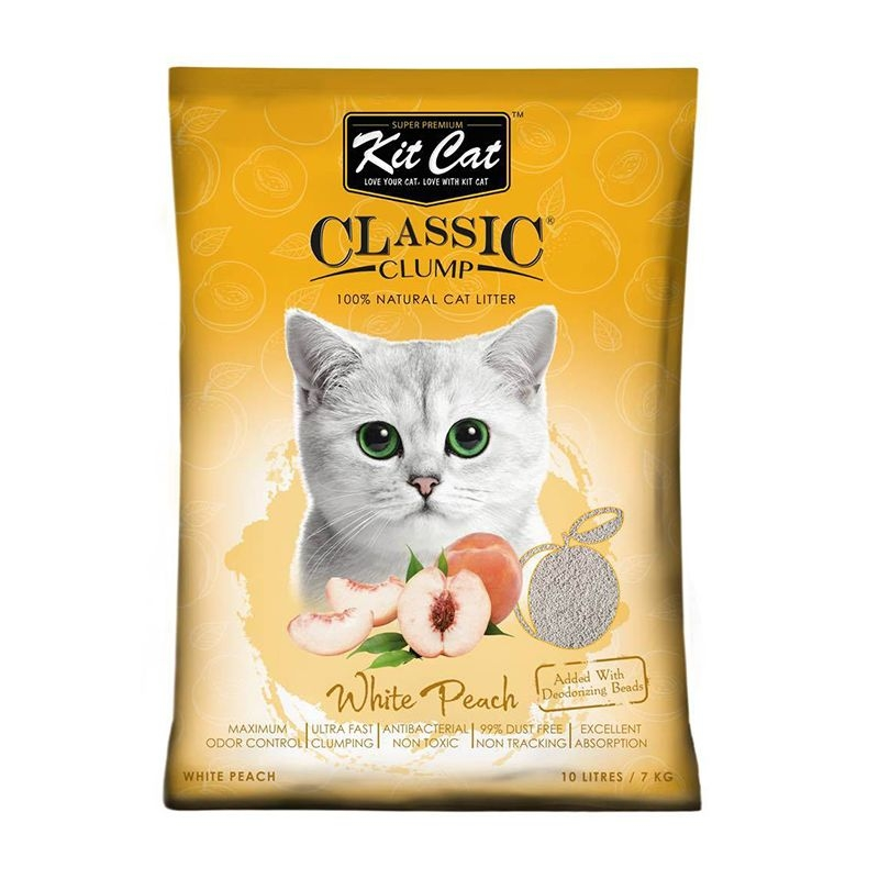 Kit Cat Classic Clump White Peach, 10 l imagine