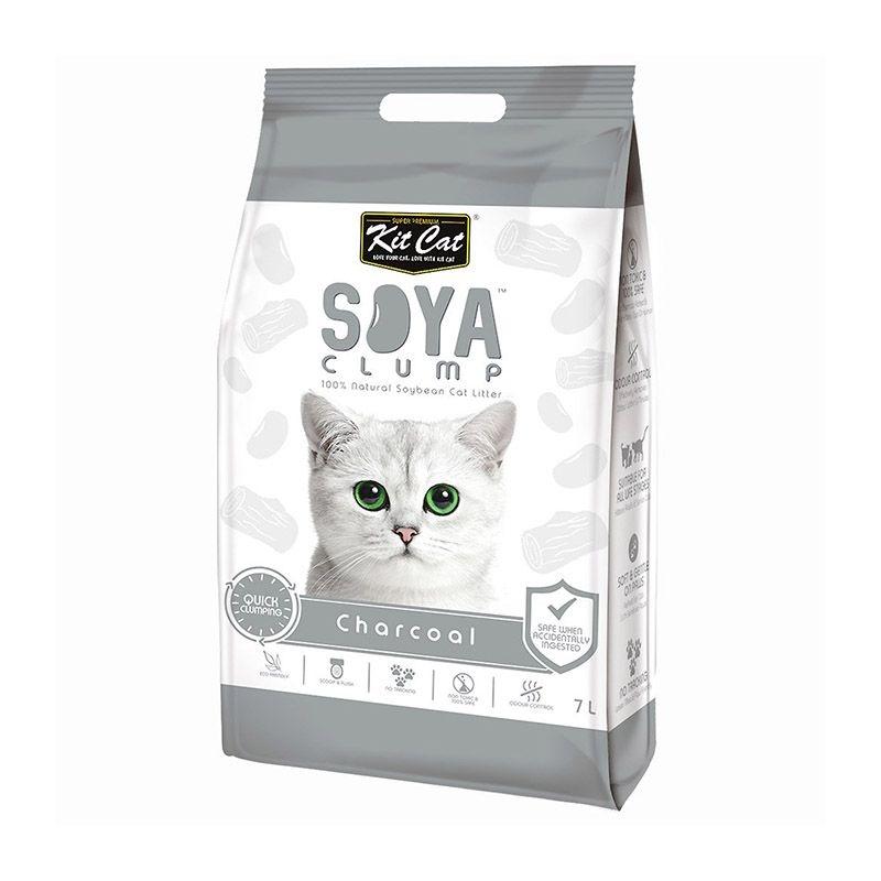Kit Cat Soya Clump Charcoal, 7 l imagine