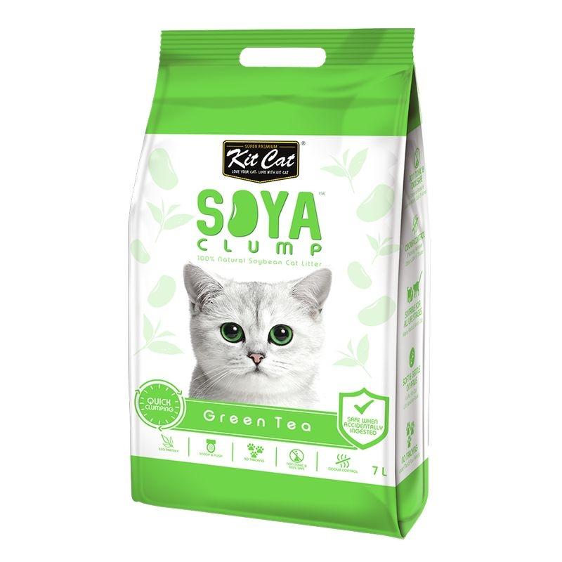 Kit Cat Soya Clump Green Tea, 7 l imagine