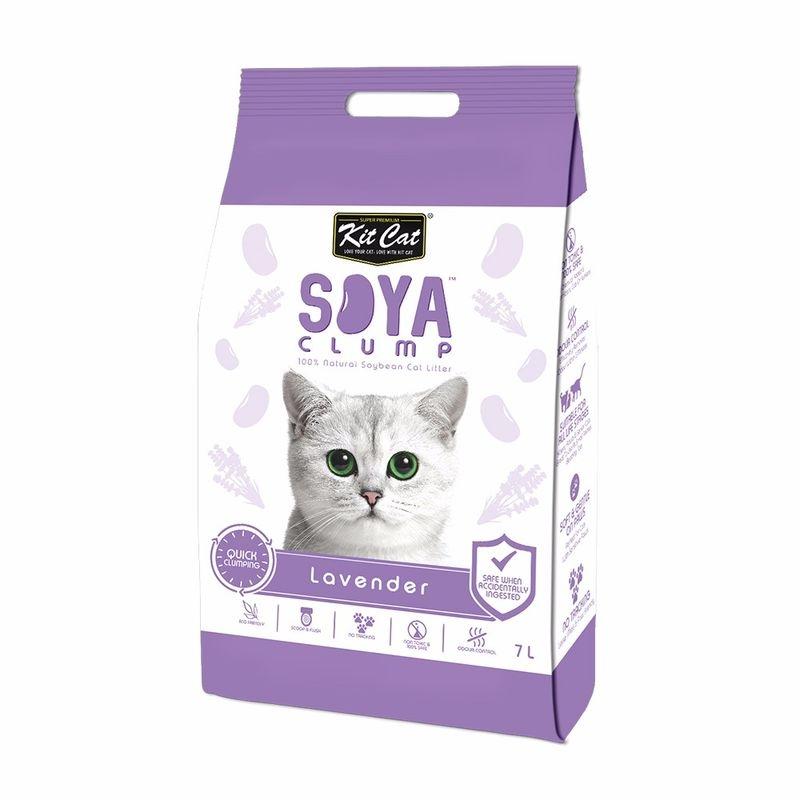 Kit Cat Soya Clump Lavender, 7 l imagine
