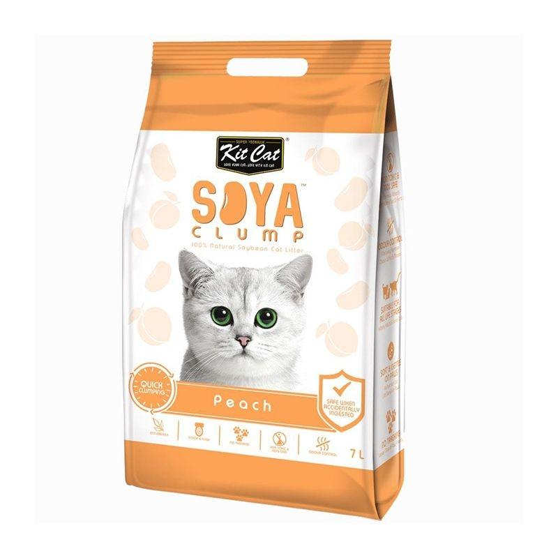 Kit Cat Soya Clump Peach, 7 l imagine