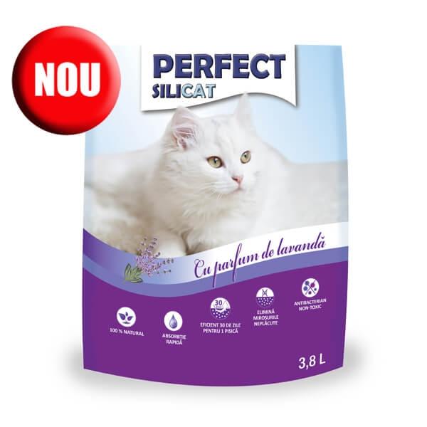 Nisip silicat, Perfect SiliCat, Lavanda, 3.8 L imagine