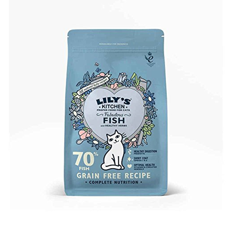 Mancare uscata pisici, Lily's Kitchen, Adult Fabulous Fish and Healthy Herbs, 2 kg imagine