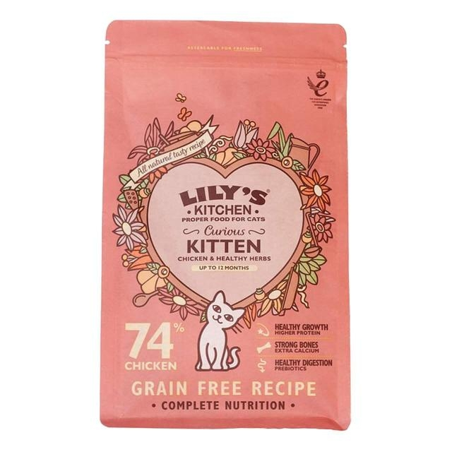 Mancare uscata pisici, Lily's Kitchen, Curious Kitten Chicken and Healthy Herbs, 800 g imagine