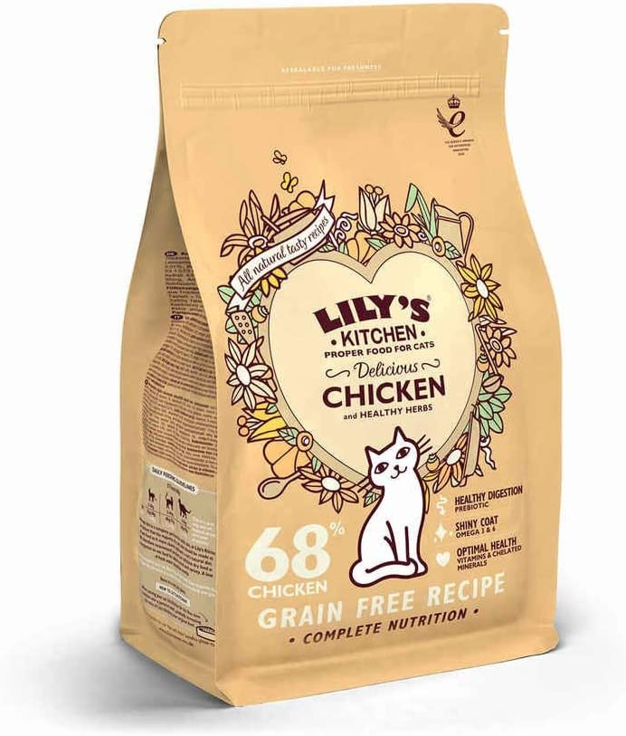Mancare uscata pisici, Lily's Kitchen, Adult Delicious Chicken and Healthy Herbs, 800 g imagine