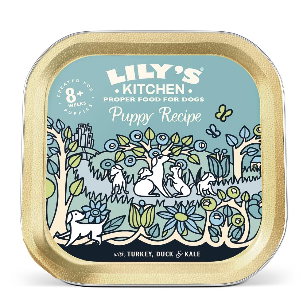 Mancare umeda caini, Lily's Kitchen, Turkey & Duck Puppy Recipe, 150 g imagine