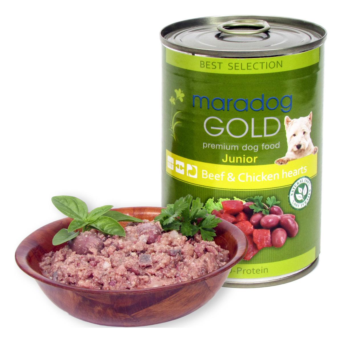 Maradog Gold Junior Vita si Inimi de Pui, 400 g imagine