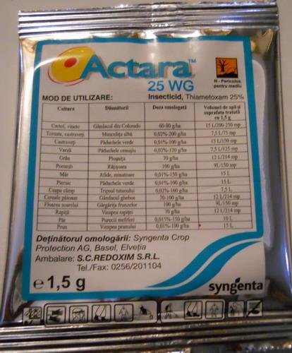 ACTARA 25 WG - 1,5 GR imagine