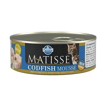 Matisse Cat Mousse Codfish Conserva, 85 g imagine