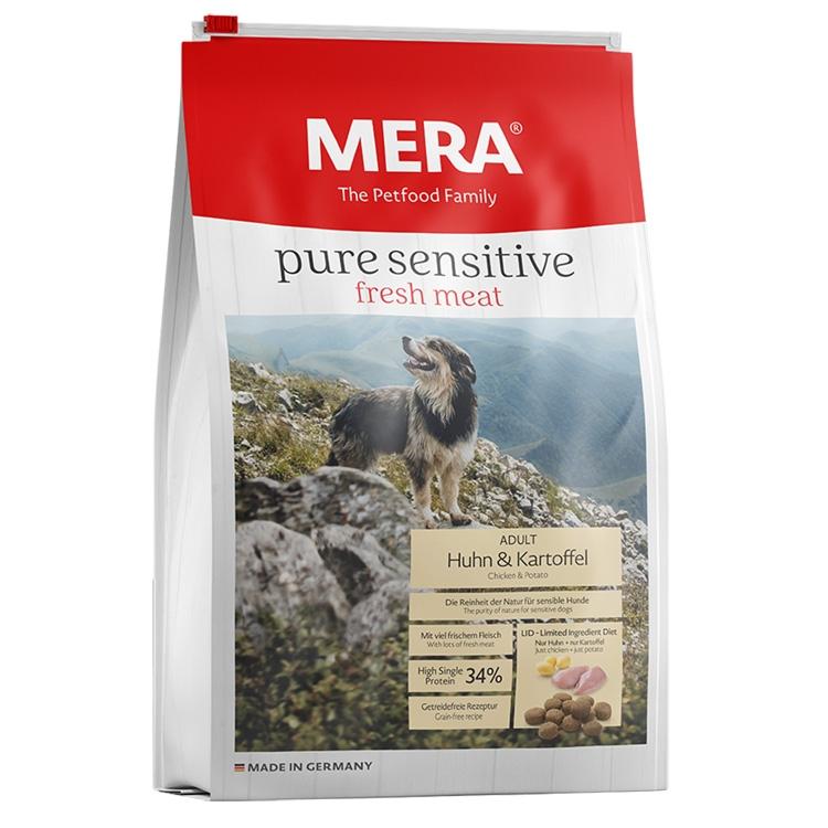 Hrana uscata caini, Mera, Pure Sensitive Adult Fresh Meat, Pui si Cartof, 12.5kg imagine