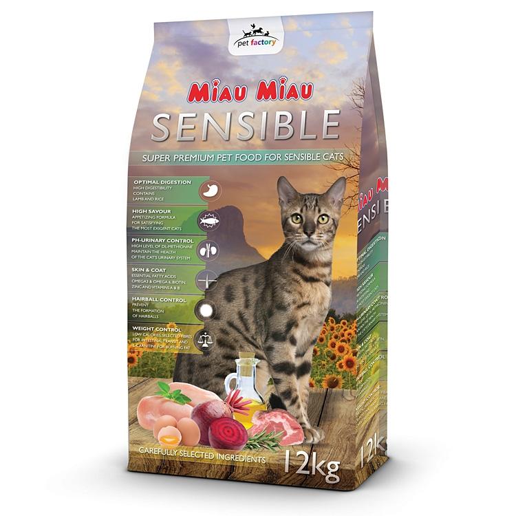Hrana uscata pisici, Miau Miau, Sensible, 12kg imagine
