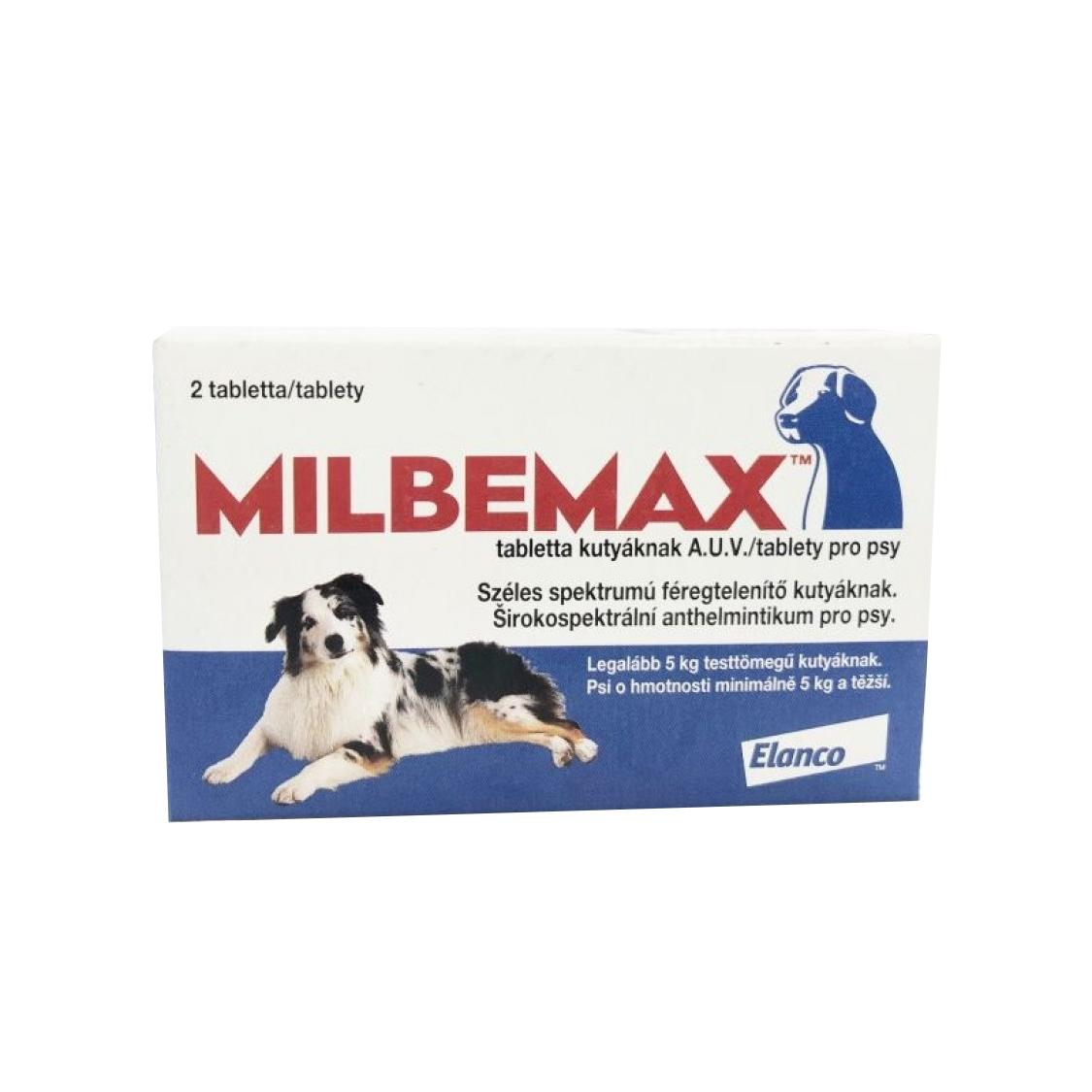Milbemax Dog 12.5 / 125 mg (5 - 25 kg), 2 tablete imagine