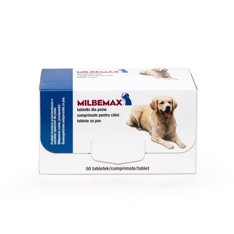 Milbemax Dog 12.5 / 125 mg (5 - 25 kg), 50 tablete imagine