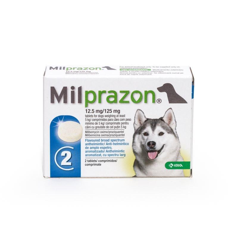Milprazon Dog 12.5 / 125 Mg (> 5 Kg), 2 Tablete