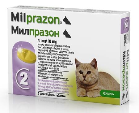 Milprazon Cat 4 / 10 mg (< 2 kg), 2 tablete imagine