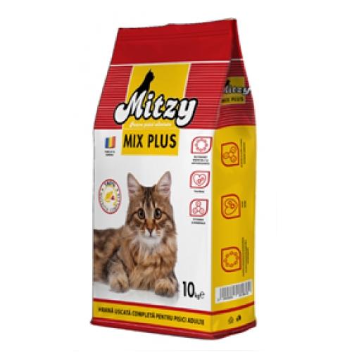 Hrana uscata pisici, Mitzy Mix Plus, 10 kg imagine