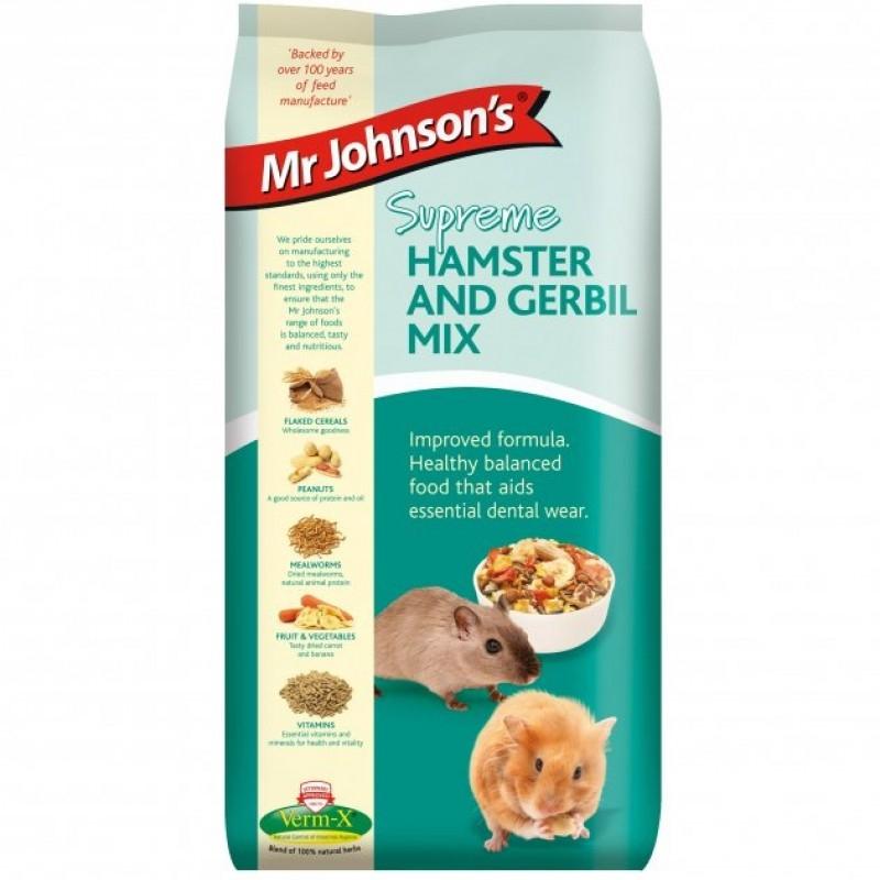 Mix pentru hamsteri si gerbili, Mr. Johnson`s Supreme Hamster/ Gerbil Mix, 900 g imagine