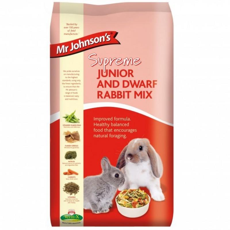 Mix pentru iepurii tineri/ pitici, Mr. Johnson`s Supreme Junior Dwarf/ Rabbit, 900 g imagine