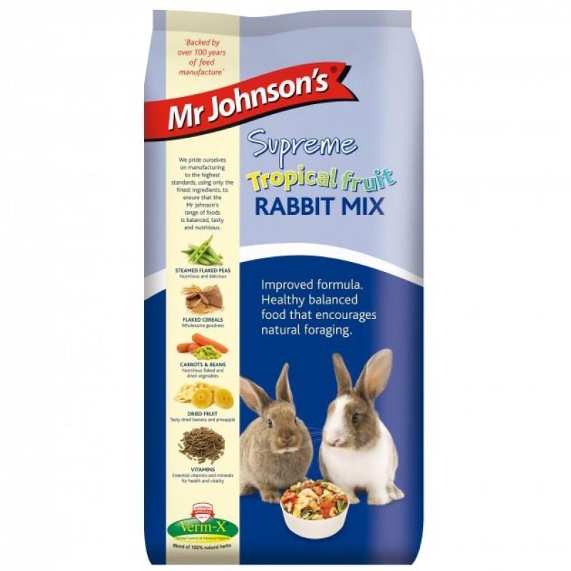 Mix special tropical pentru iepuri, Mr. Johnson`s Supreme Tropical Fruit Rabbit, 900 g imagine