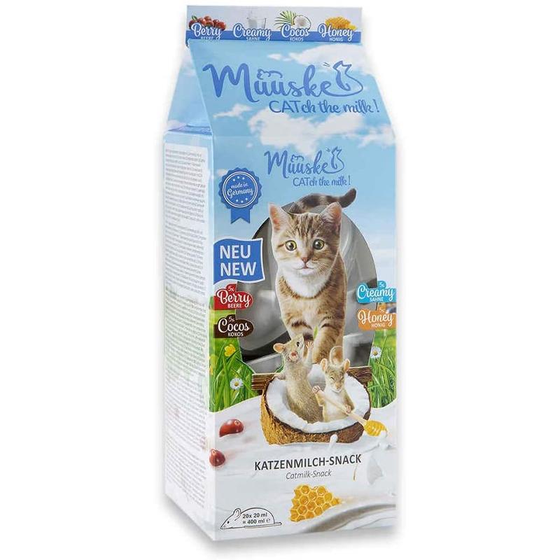 Gustare pentru pisici, Muuske Cat Milk Multipack, 20x20 ml imagine